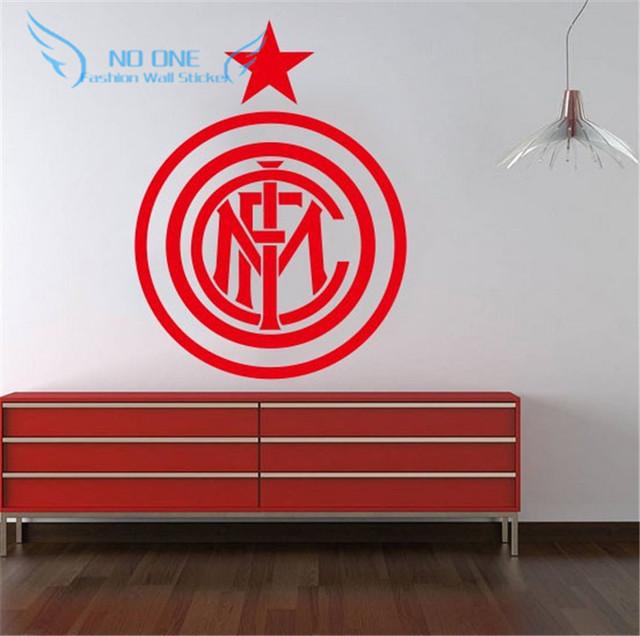 Wall Art Diy Home Decoration Removable Inter Milan Football Europe League Team Logo Wall