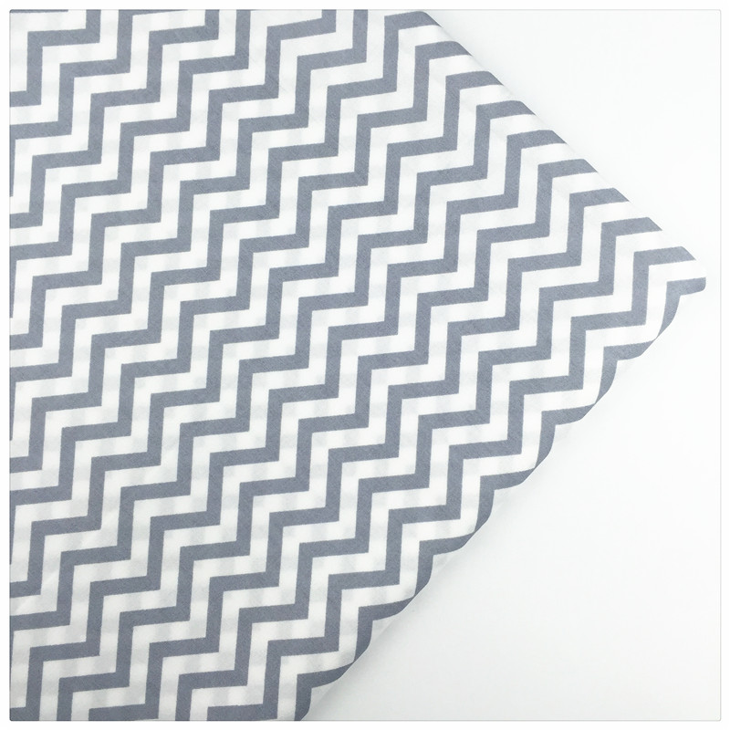 Syunss,100%Cotton Twill Fabric Gray Wave Stripes Printed Patchwork DIY Handmade Curtain Textile Material Sewing Baby Toy Tissue