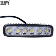2 Pieces/Lot 6INCH 18W MINI LED BAR 12V LED WORK LIGHT SPOT FLOOD FOG LAMP FOR OFFROAD BOAT TRUCK ATV 4×4 LED DRIVING LIGHTS