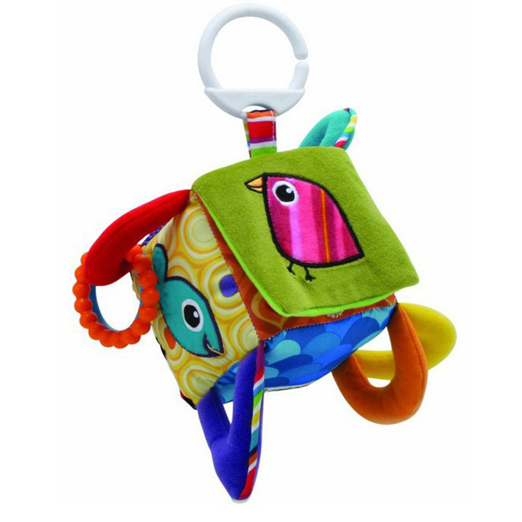 New Infant Toys Multifunctional Cloth Blocks Clutch Cube Peek-A-Boo Babies Mobile Music Toy Baby Rattle Toys-w244(China (Mainland))