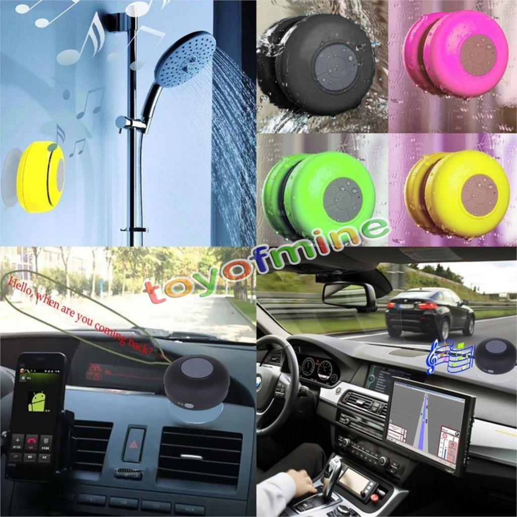 Mini Waterproof Wireless Bluetooth Handsfree Mic Suction Speaker Shower Car(China (Mainland))