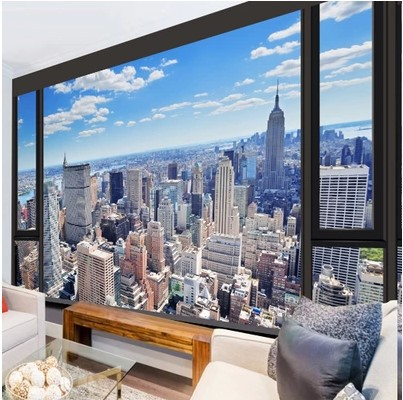 Custom 3d photo wall paper urban landscape embossed wall paper kitchen living room bedroom TV 3d mural wallpaper modern painting(China (Mainland))