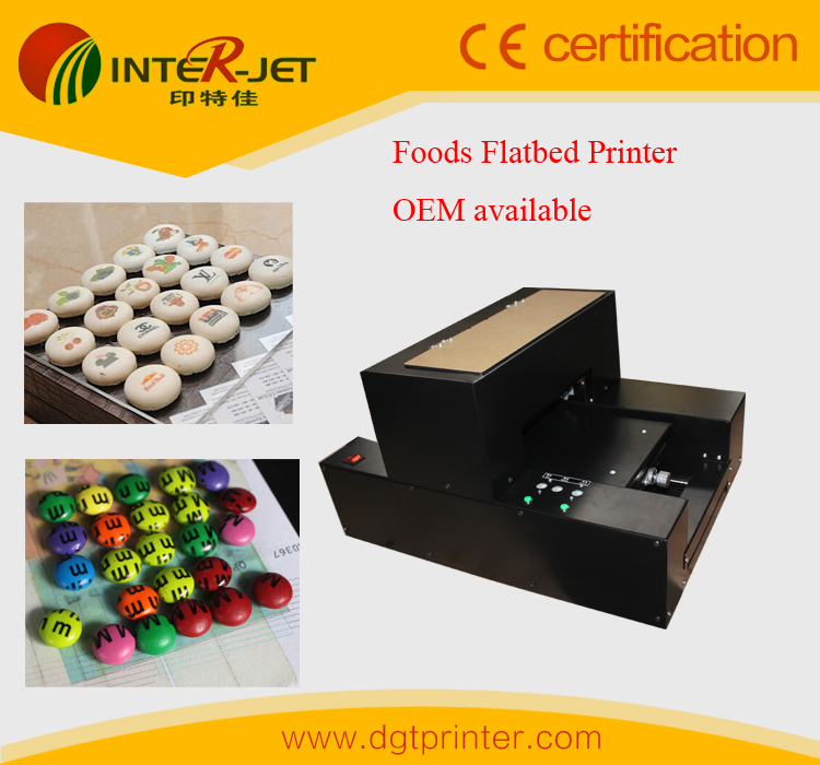 Stable and reasonable price Foods Printer &Edible cookies Flatbed printer &MM candies/marshmallow etc printing machine(China (Mainland))