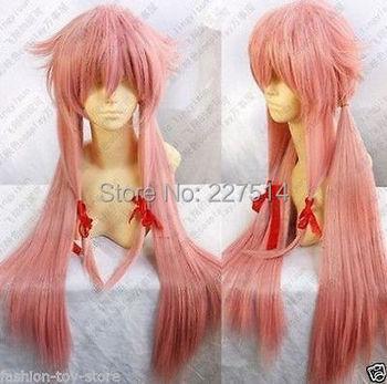 MXJ&WSY326>>>Hot Sell!!! New Future Diary Mirai Nikki Gasai Yuno Cosplay Wig
