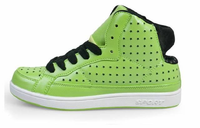 Free shipping  skateboarding  breathable japanned leather candy women's shoes