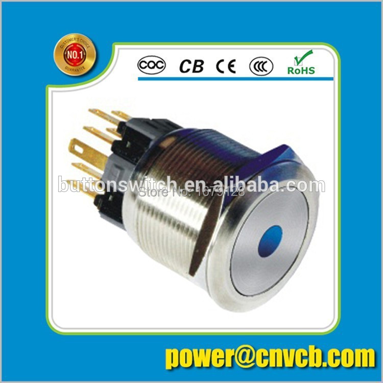 2503F 1NO1NC 25mm waterproof momentary dot led IP67 push button switch(China (Mainland))