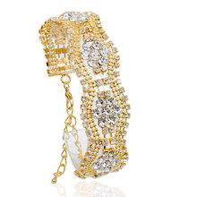 NEW Hot Sale Crystal Bracelet Fine Jewelry Wave Crystal Hollow Bracelet for Women Wavy Style Wedding Party Bijoux pulseira B414(China (Mainland))