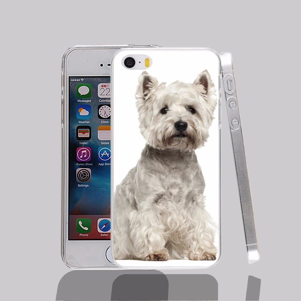 14984 West Highland White Terrier transparent Cover cell phone Case for iPhone 4 4S 5 5S 5C 6 6S Plus 6SPlus(China (Mainland))