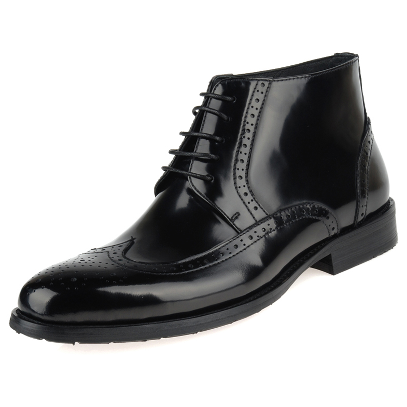 Carved cowhide male high leather , brockden fashion commercial genuine leather pointed toe leather fashion shoes<br><br>Aliexpress