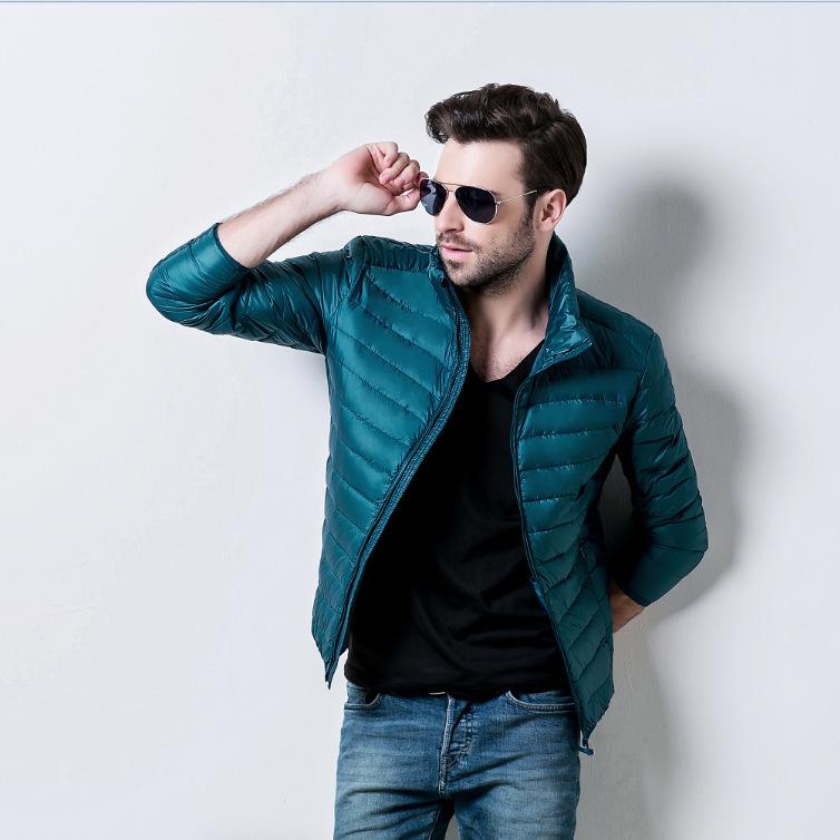 2015 winter men's ultra light 90% white duck parka jacket stand collar warm puffer coat 8 colors M-3XL - Miss CZ home decor store