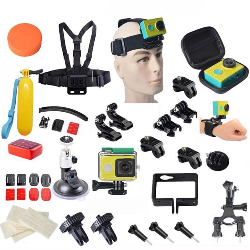 Xiaomi Yi Accessories Waterproof Camera Case Chest Strap Lens Cover Mounts Kits Xiaomi Yi Action Camera(China (Mainland))