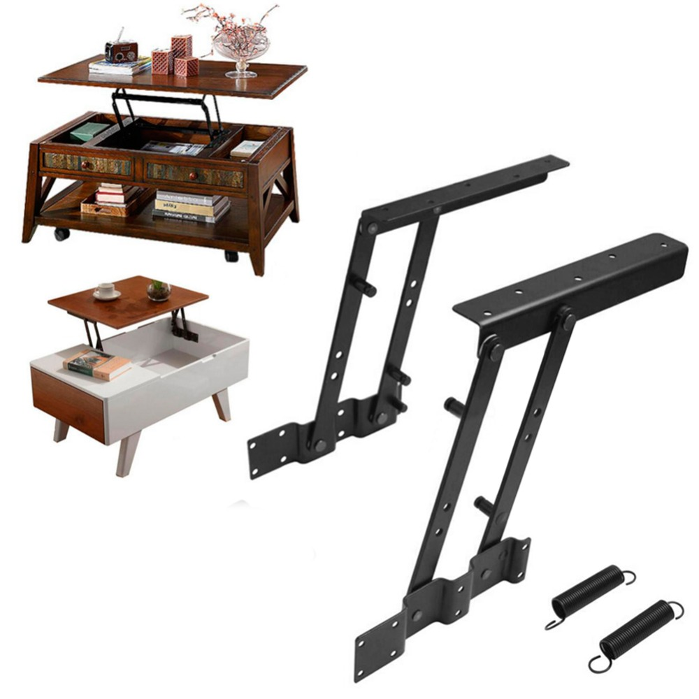 1Pair Multi-functional high-tech Lift Up Top Coffee Table Lifting Frame Mechanism Spring Hinge Hardware NEW(China (Mainland))