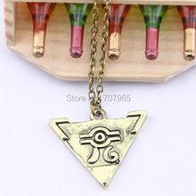 Cosplay Yu-Gi-Oh Muto Yugi Aibo Atum Yugioh Pendant Triangle Logo Necklace Chain(China (Mainland))