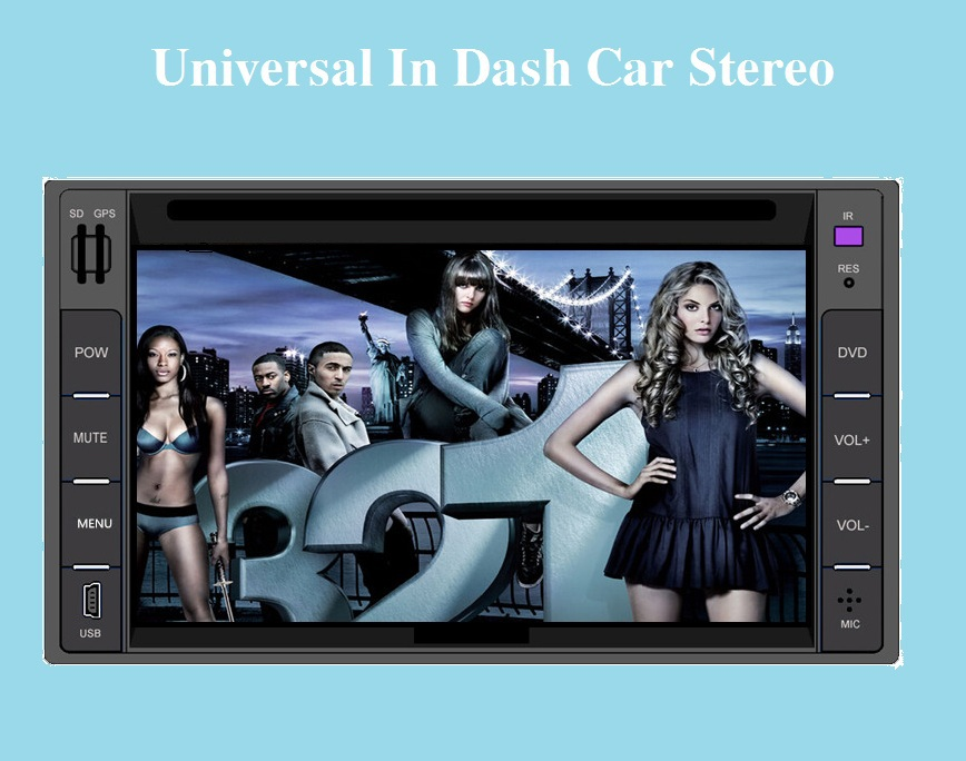 6 2 Touch Screen Universal Car Stereo Video 2 din Windows CE 6 0 DVD Player