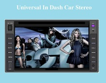 6.2″ Touch Screen Universal Car Stereo Video 2 din Windows CE 6.0 DVD Player FM AM Bluetooth USB SD TV IR Steering Wheel Control