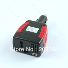 150W Car Power Inverter Charger Adapter 12V DC To 110/220V AC+USB 5V+ Free Shipping(China (Mainland))