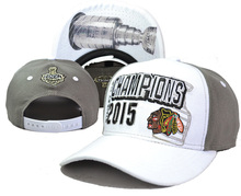 Men's Baseball Adjustable Caps Chicago Blackhawks White/Gray 2015 Stanley Cup Champions Locker Room Snapback Hat(China (Mainland))