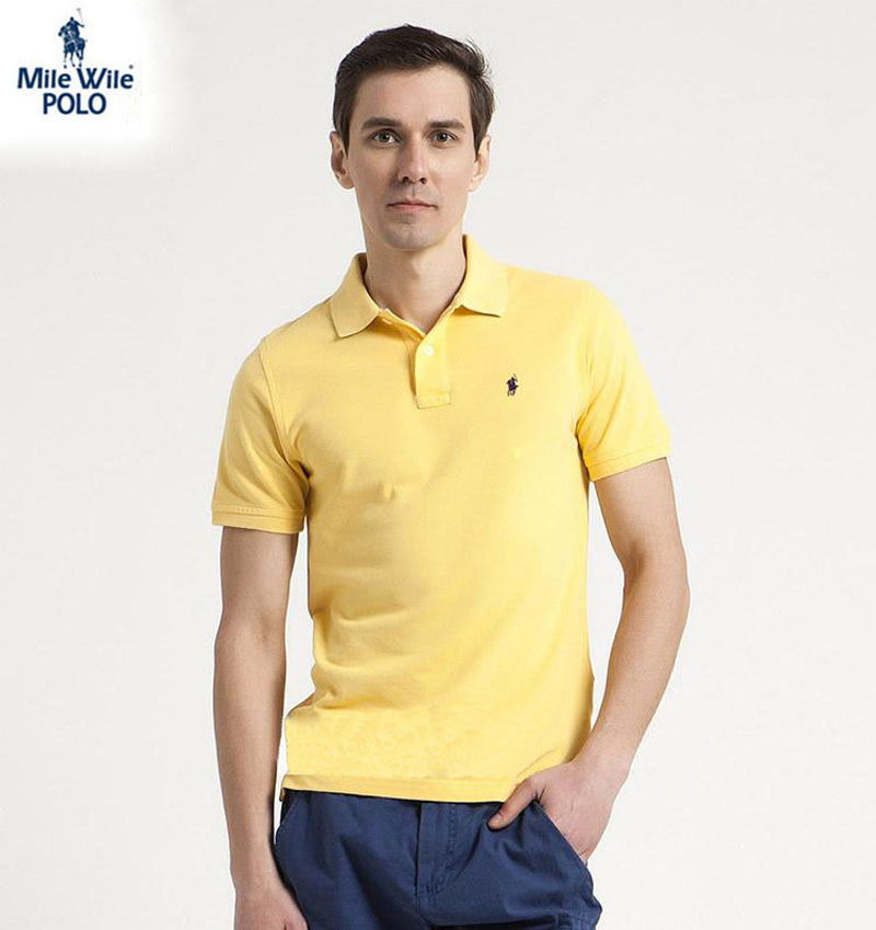 Summer 2015 Small Horse New Polo Men Cotton Mens Polo Shirts brands Short Sleeve Classic England Style solid Plus size XXL(China (Mainland))