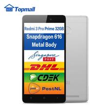 "Original Xiaomi Redmi 3 Pro Prime 3GB RAM 32GB ROM Snapdragon 616 Mobile Phone 4100mAh Battery Fingerprint ID 5.0"" Metal Body(China (Mainland))"