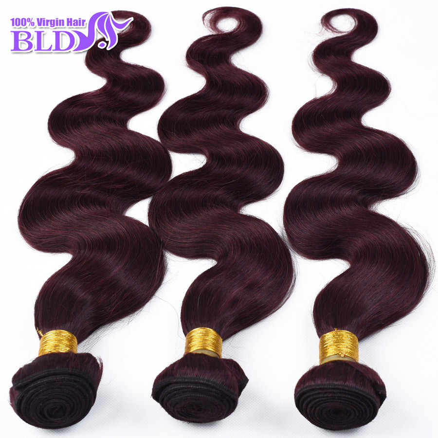"High Praise Indian Body Wave Virgin Hair 3 Bundles Remy Hair Extensions #99J Red Burgundy Cheap Indian Remi Hair Mixed 10""-30""(China (Mainland))"
