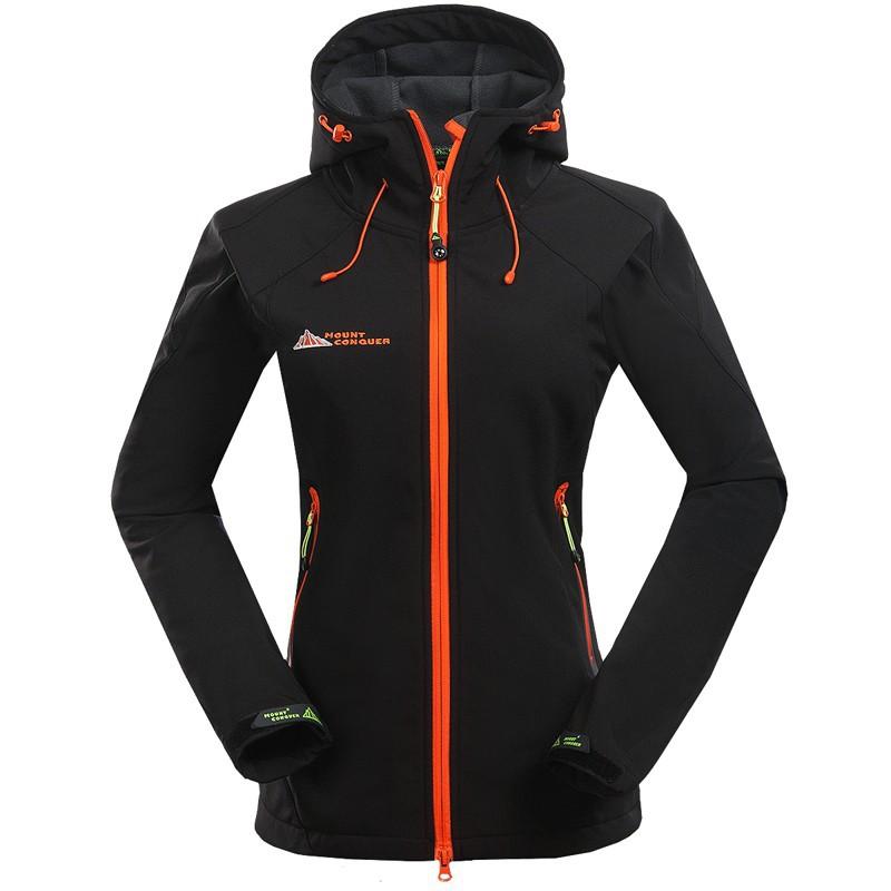 Outdoor Waterproof Mammoth softshell fleece Climbing Skiing Hiking Jacket Windbreaker Women Breathable Windproof Sport  Coat