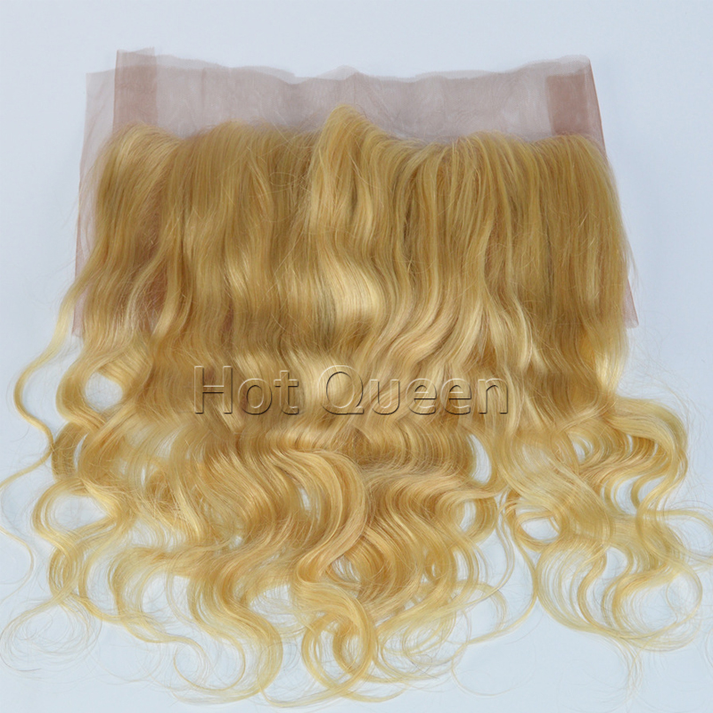 Фотография Hot Queen #613 Blonde Lace Frontal 13*4 Lace Closure Body Wave European Virgin Hair 613# New Arrival Human Hair Lace Frontal