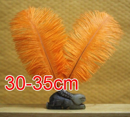 0ree shipping!!!!!50pcs/lot  Fashion new orange color ostrich feathers 30-35cm Long  wedding decoration<br><br>Aliexpress