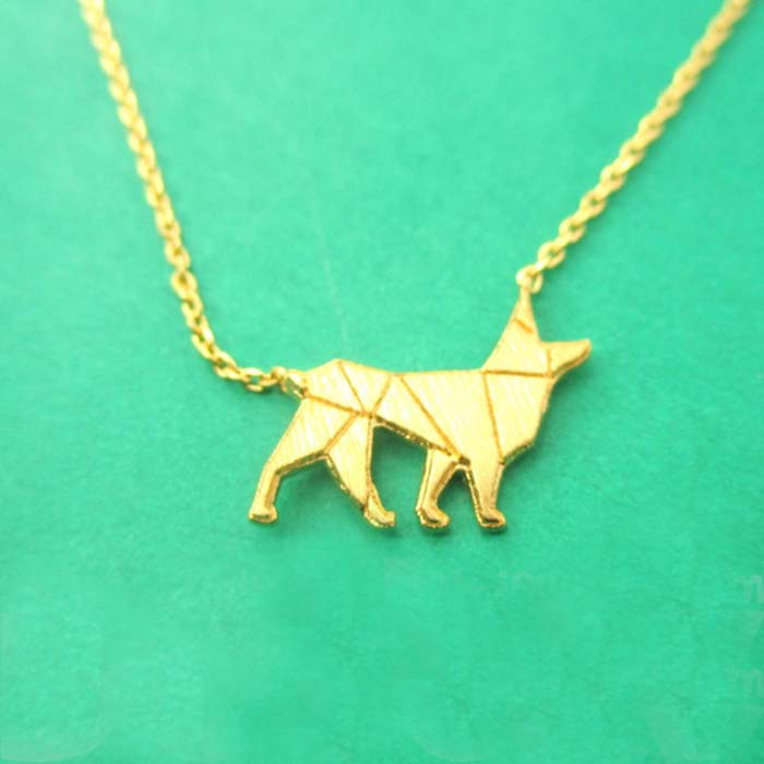 30pcs/lot Women Pendant Necklace GERMAN SHEPHERD DOG SHAPED SILHOUETTE CHARM NECKLACE For Girl Gift<br><br>Aliexpress