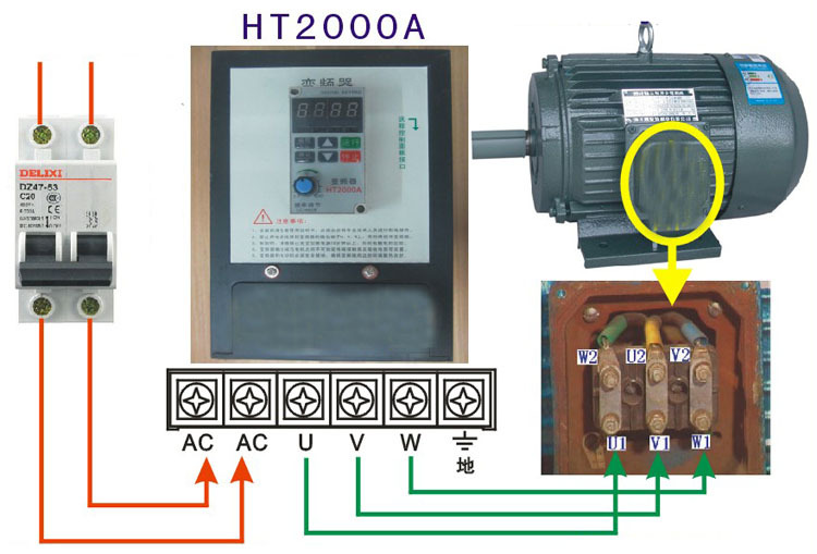 High quality 220v ht2000a used variable low for How to select vfd for a motor