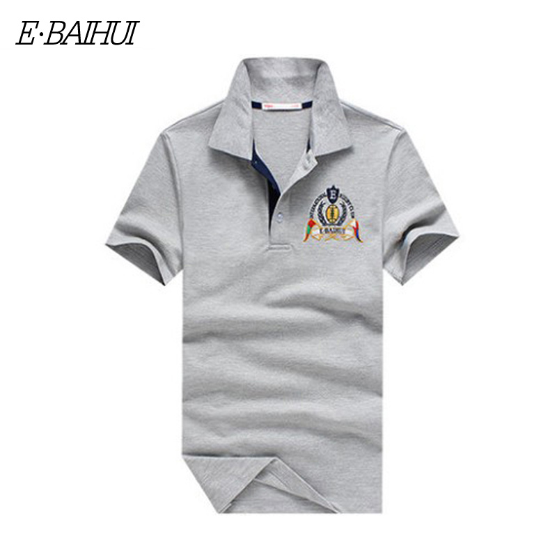 E-BAIHUI Brand summer style men collar polo shirt men clothing solid mens polo shirts business casual poloshirt cotton P008(China (Mainland))