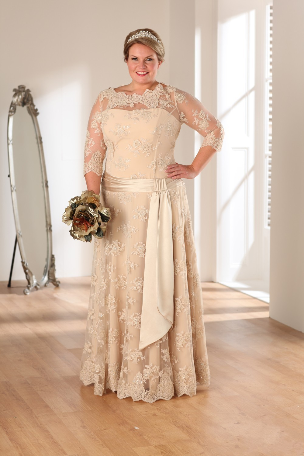 Champagne colored wedding dresses with sleeveswedding champagne colored wedding dresses with sleeves ombrellifo Choice Image
