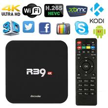 Docooler R39 Smart Android 5.1 TV Box RK3229 Quad Core KODI 16.1 XBMC UHD 4K 1G /8G Mini PC WiFi H.265 Miracast HD Media Player(China (Mainland))