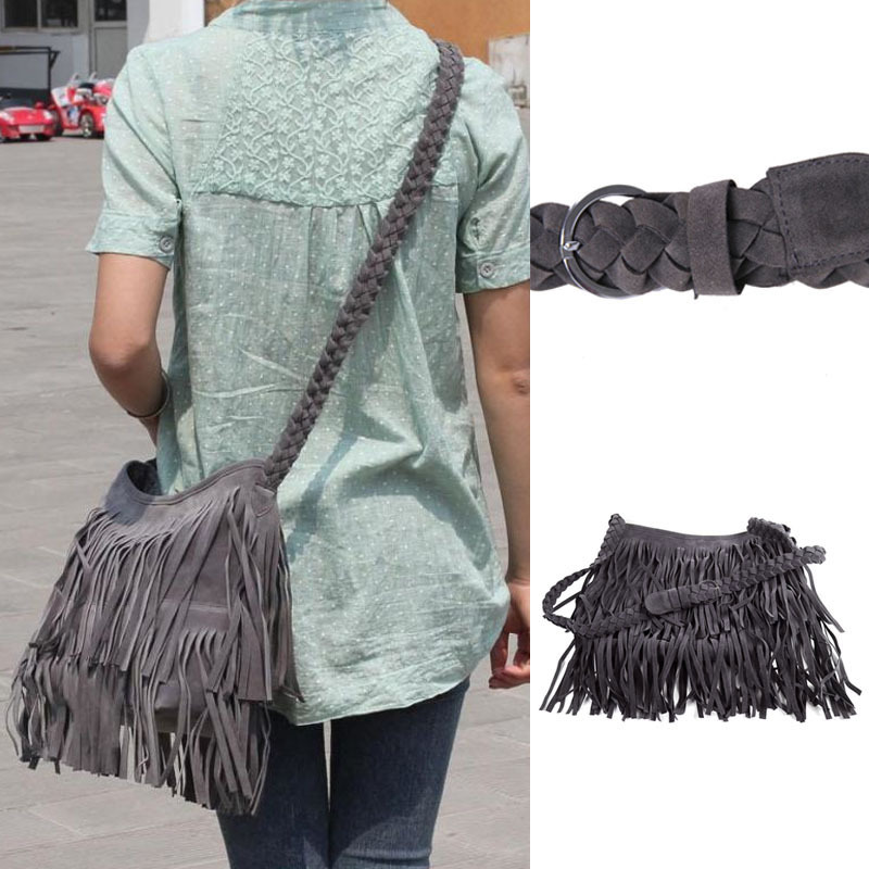 New Fashion Zipper Tassel Celebrity Fringe Faux Leather Shoulder Messenger Cross Body Bag Handbag  # L09335<br><br>Aliexpress