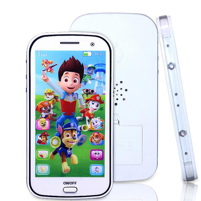 English/Russian children toy phone with light  touch-screen music cell phone toys Music Recording Educational Toys WJ307