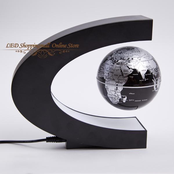led light magnetic levitation floating globe world map 3 inch anti gravity earth globe children novelty gift Free shipping(China (Mainland))