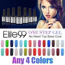 Elite99 Gels For Nails Hot Sale UV Soak Off Gel Nail Varnish One Step Gel Luminous Nail Polish Set Choose 4 Colors(China (Mainland))