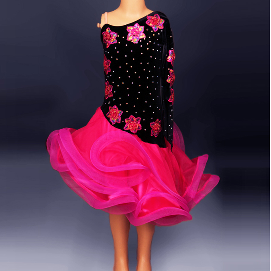 Latin Dance Dress Women/Girls For Salecha Cha/Rumba/Samba/Ballroom Dancing Dancewear Fitness Clothes Lady/Kids Dance Costume(China (Mainland))