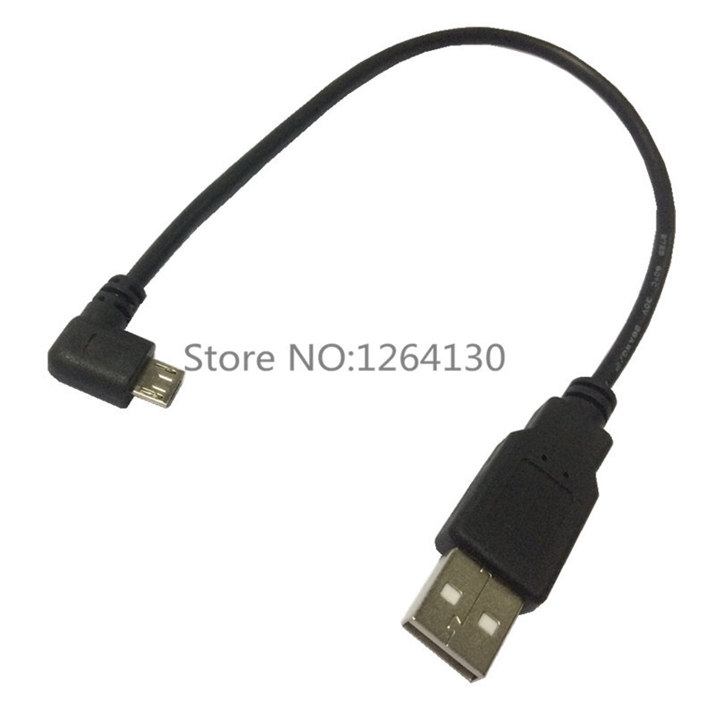 Left Angled 90 Degree Micro USB Male to USB Data Charge Cable for Cell phone for micro usb cable 0.25M(China (Mainland))