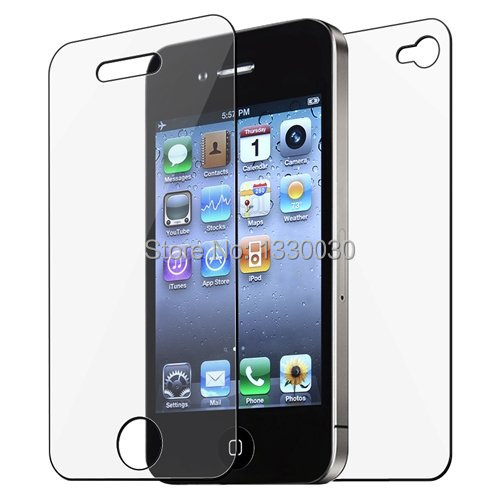 12pcs= 6x (Front+Back) High Quality Ultra Clear Screen Protector Cover Film for iPhone 4 4G 4S-11033