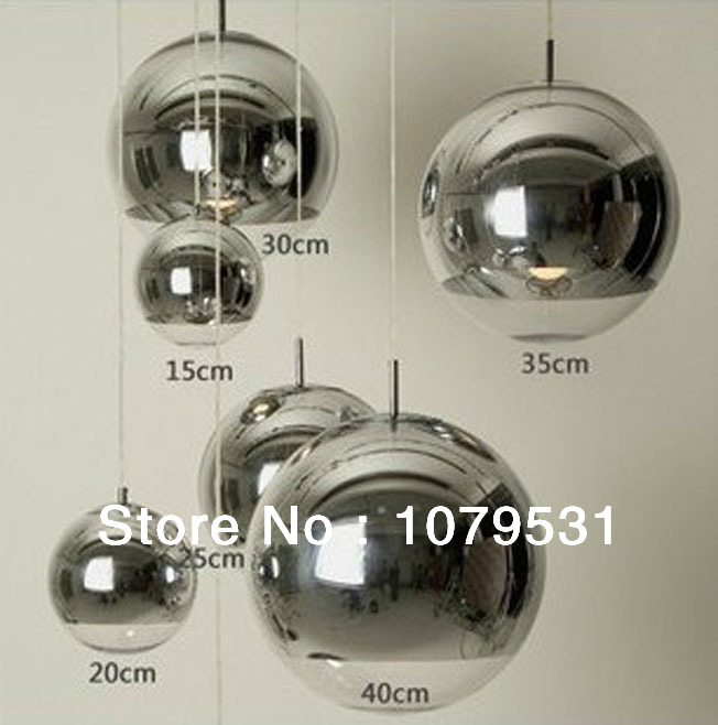 Modern wholesale Chrome Tom Dixon Glass Bubble Ball Pendant Lights Tom Dixon Copper Shade Mirror Ball Pendant Lighting(China (Mainland))