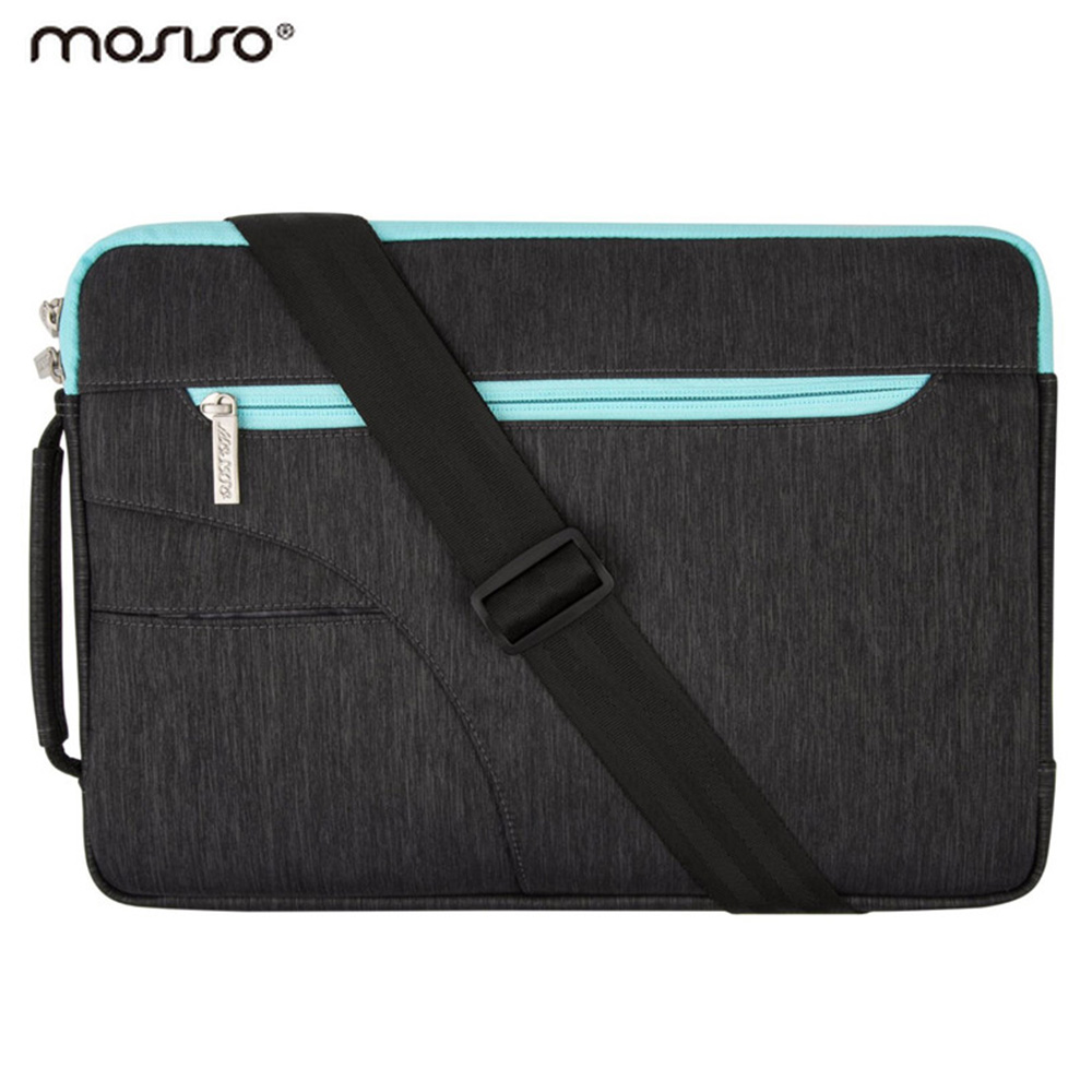 Mosiso Notebook Strap Case Shoulder Bag for MacBook Air 11 13 Pro 13 15 Acer Lenovo Dell Lenovo Sumsong 11.6 13.3 15.6 inch(China (Mainland))