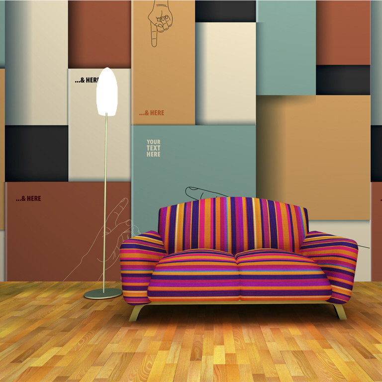 Painting color block patchwork abstract art wallpaper for Eco friendly colours for painting