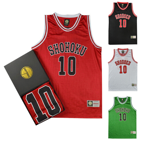 Slam Dunk SHOHOKU 10 HANAMICHI Basketball clothing vest Free shipping cosplayОдежда и ак�е��уары<br><br><br>Aliexpress