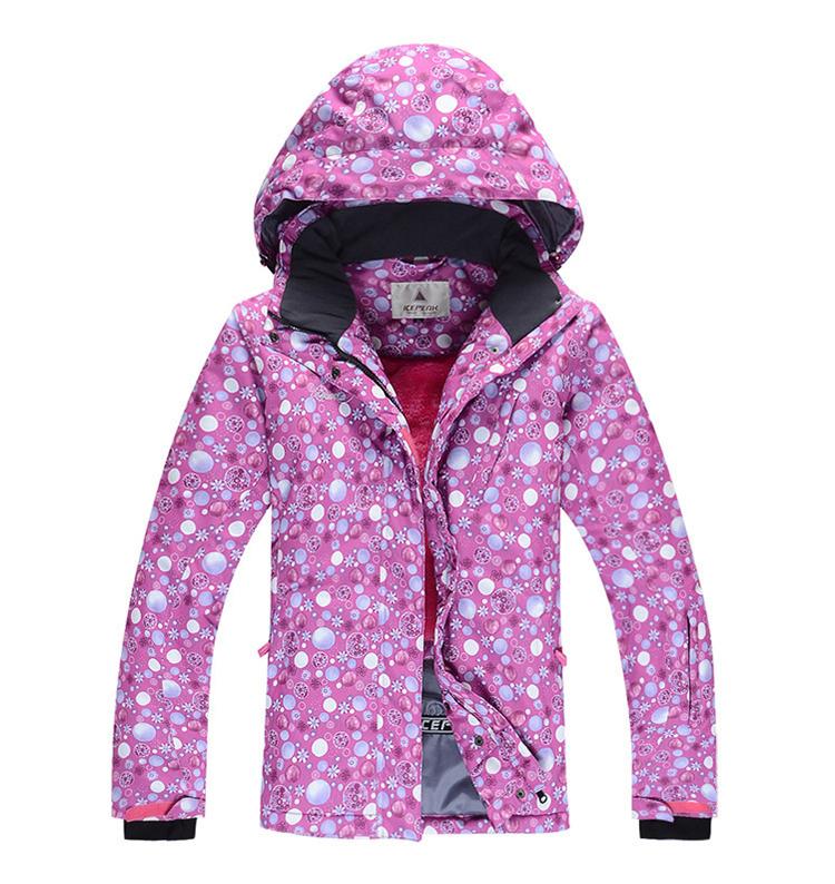 New 2015 Winter Women Fahion Print Colorful Hiking &Camping Jacket Snowboard Skiing Jacket Suit snow Jacket and coats(China (Mainland))