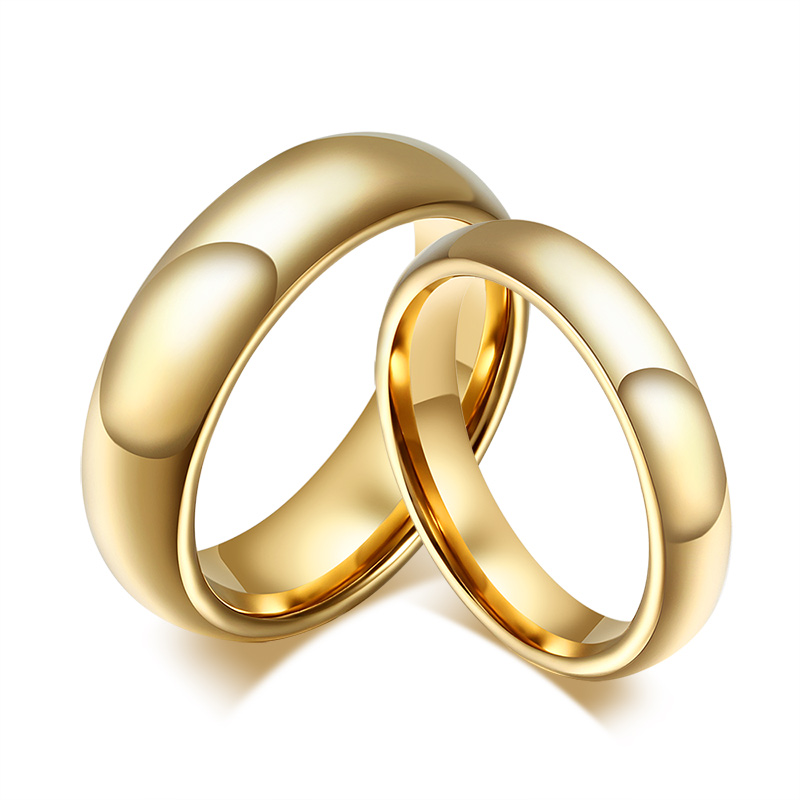 tungsten carbide wedding rings for couple 18k gold plated