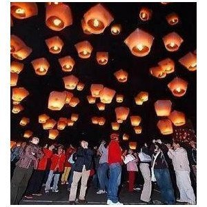 Free shipping, sky lanterns, chinese kongming lanterns,float in sky,fireproof paper, wish lantern, 10pcs/lot free shipping