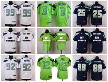 Stitiched,Seattle Seahawks,Marshawn Lynch,Richard Sherman,Russell Wilsons,Jimmy Graham,Earl Thomas,Steve Largent,customizable(China (Mainland))