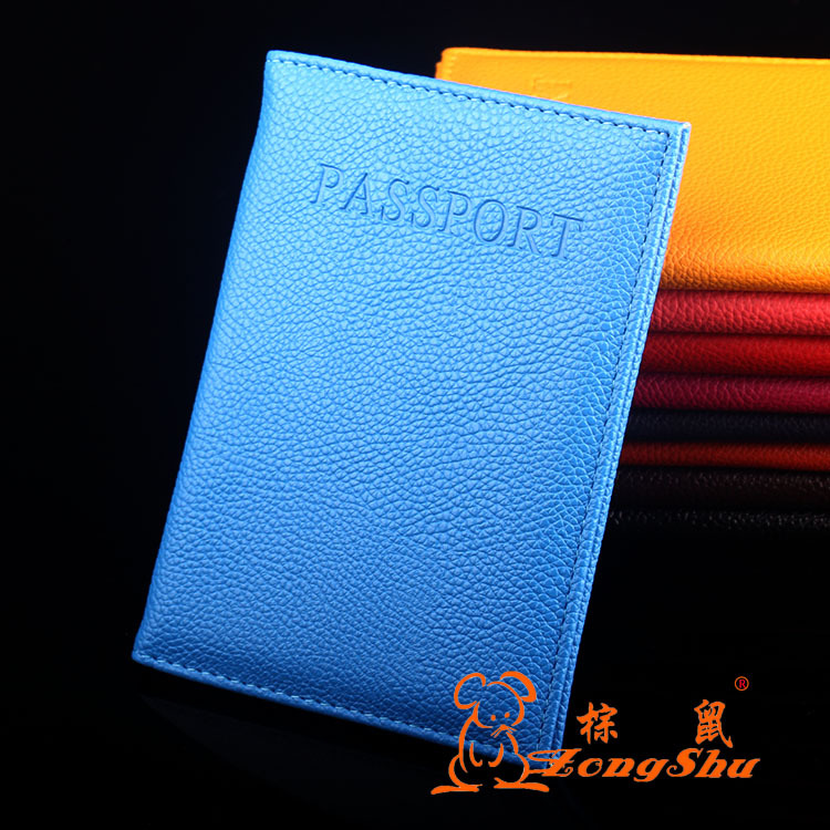 ZS Leather Passport Holder Couple Models Travel Passport Cover Unisex Card Case Man Card Holder