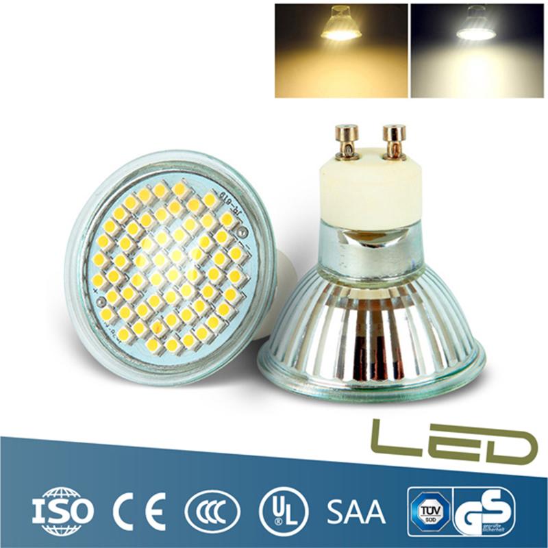 1 led bulb Energy Saving 4W 60 SMD LED BEADS GU10 Lamp light bulbs Cool white/ warm white 110V 220V - solove store