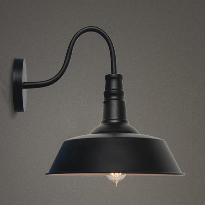 Louis Poulsen Sconce Light E27 Plated Loft American Retro Vintage Iron Wall Lamp 220V 40W Diameter 26cm Antique Lamp Industrial<br><br>Aliexpress
